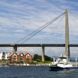 Stavanger City Bridge over the Lysefjord - Stock Photo