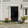 Door of a typical Stavanger House — Stock Photo
