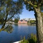 Breiavatnet, the main Stavanger Lake — Stock Photo