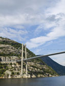 Bridge over the Lysefjord — Stock Photo