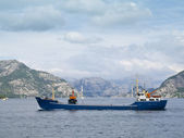 Trawler in the Lysefjord — Stock Photo