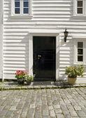 Deur van een typisch huis van stavanger — Stockfoto