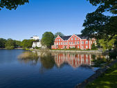 Breiavatnet, the main Stavanger Lake — Stock Photo