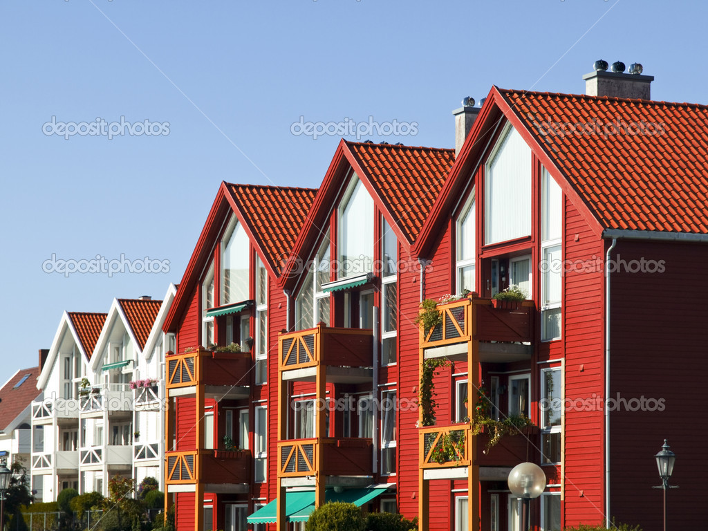 Stavanger Wood House, typical architecture or norweigan style — Photo #3134801