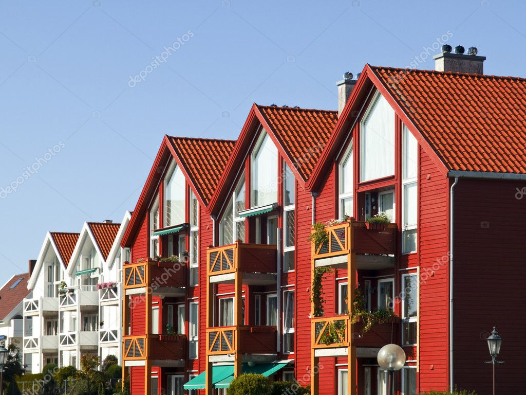 Stavanger Wood House, typical architecture or norweigan style — Stok fotoğraf #3134801