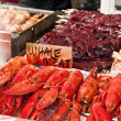 Seafood on sale — Stock Photo
