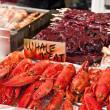 Seafood on sale — Stock Photo