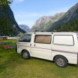 Stock Photo: Camping in fjords