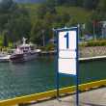 Blank Dock Marker — Stock Photo #3143832