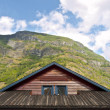 Cabin Wooden Roof - Stock Photo