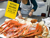 King Crab on sale — Stock Photo
