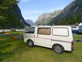 Camping in the fjords — Stock Photo
