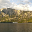 Cruise ship in the Sognefjord — Stock Photo