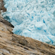 Briksdal Glacier — Stock Photo