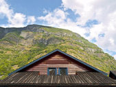 Cabin Wooden Roof — Stock Photo
