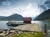 Dock Cabin — Stock Photo