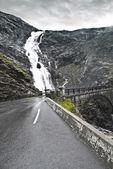 Dangereuse route mouillée — Photo