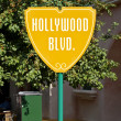 Stock Photo: Hollywood Boulevard Sign
