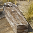 Vintage Wooden Coffin — Stock Photo