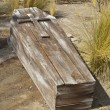 Stock Photo: Vintage Wooden Coffin