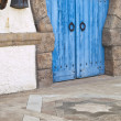 Antique Door in a Tunisia House - Stock Photo