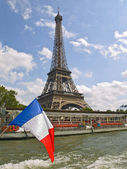Eiffel Tower from the Cruise — Stock Photo