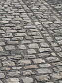 Cobbled Road in Paris — Stock Photo