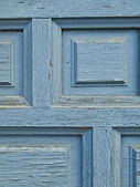 Blue grunge door detail — Stock Photo