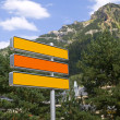 Royalty-Free Stock Photo: Blank Directional Signs