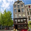 Stock Photo: Typical Odd Inclined House in Amsterdam
