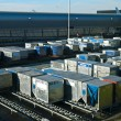 Airport Cargo Containers - Stock Photo