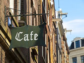 Medieval Coffee in Amsterdam — Stock Photo