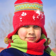 Little girl in the snow — Stock Photo #3252245