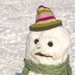 Poverty-Stricken Snowman — Stock Photo