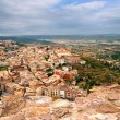 The village of Cardona from its castle - Stock Photo