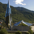 Modern Building in Andorra - Stock Photo