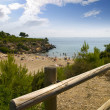 Beach in L'Ametlla de Mar, Tarragona, Spain — Stock Photo