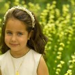 Stock Photo: Lovely girl smiling in the garden