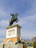 King Statue, Madrid — Stock Photo