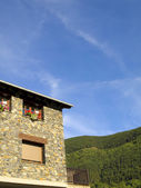 Rural apartments in the beautiful village of Ordino, Andorra — Stock Photo