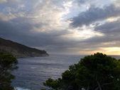 şafak aiguablava beach — Stok fotoğraf