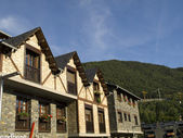 Rural apartments in the beautiful village of Ordino, Andorra — Stock Photo