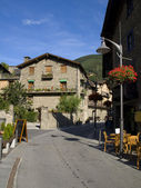 Street in Ordino, Andorra — Stock Photo