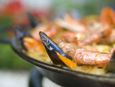 Cooking Spanish Paella — Stock Photo