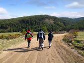 Trekking in Friends — Stock Photo