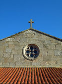 Detail of the Baiona Church — Stockfoto