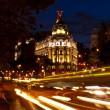 Metropolis Building in Gran Via, Madrid - Stock Photo
