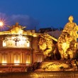 La Cibeles Fountain By Night, Madrid — Stock Photo