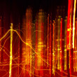 Blurred Lights in Madrid Rush Hour - Foto de Stock
