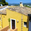 Colorful Apartments in Majorca - Stock Photo